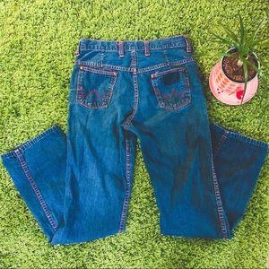 Vtg 70's Red Stitch Wrangler Jeans